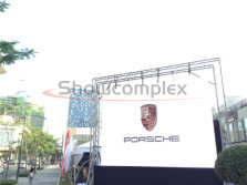 6.6mm outdoor rental led video wall panel for porsche promotion