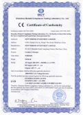 CE certificate for NWB-30 for charging cordless cap lamp