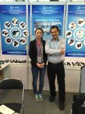 take photo with client in the 117th canton fair
