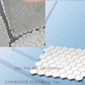 Alumina Ceramic Hex Tile Mat Installation From Chemshun