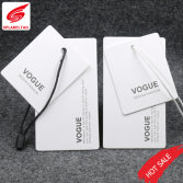 White card paper hang tag