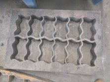 wire cutting zig zag paver mold
