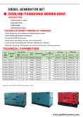 Catalogue of 60HZ diesel generator sets