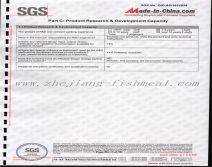 SGS certification for fishmeal production lines