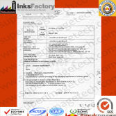 MSDS and Transport Condition Certification for Air Transport-for Black Inks