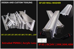 Acrylic linear lens use for wall washer