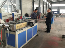 Algeria Project-PE Single Wall Corrugated Pipe Production Line