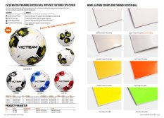 Match/Training Soccer Ball with Net Textured TPU Cover