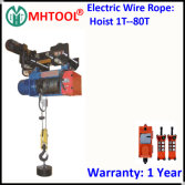 Electric Wire Rope Hoist with Single Rail Electric Trolley