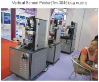 Attend various exhibitions Precision vertical screen printing machine
