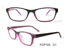 Plastic reading glasses frame