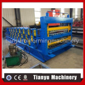 new design Three layer metal roofing sheet roll forming machine