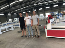 July .2017 UZ Customer come to buy the mini cnc router 6090