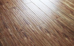 Handscraped with woodgrain HDF Laminated Flooring