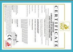 CE CERTIFICATE OF RUBBER MOLDING MACHINE