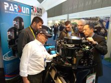 Parsun outboards in METS, Amsterdam, the Netherlands