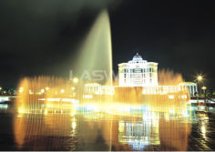 Municipal government square fountain in Shunde new city zone