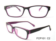 plastic double color CP eyeglasses frame