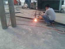 cutting plate for reactor sand oil tanks