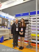 Greek customers visit booth