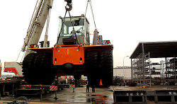 Our crane will going to Australia
