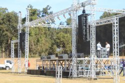 line array + monitor + subwoofer in Africa