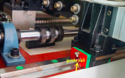 high speed shuttle quilting machine - guide rail