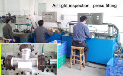 Press fitting inspection line