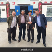 Uzbekistan customers visiting our factory