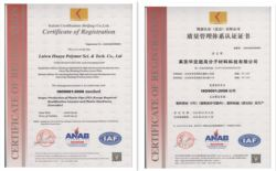 HUAYA Got ISO9001-2008 Certification