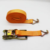 orange color polyester ratchet tie down