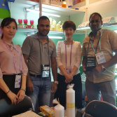 with our cilient on canton fair