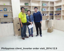 Philippines client -- Power Inverter order visit--2014.12.9