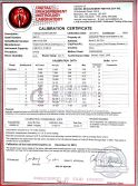 Calibration certificate of Torque Screw Driver