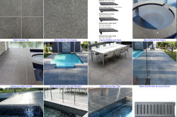 G654 granite tile for swimming pool paver