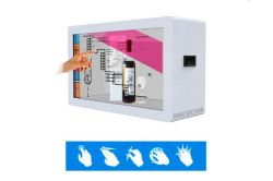 Transparent touch display solution