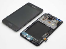 Phone lcd for Samsung i9100 lcd display with touch screen with frame