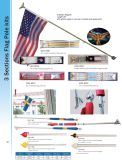 3 sections flag pole kits