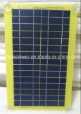 5W PCB Laminated Solar Panel for Car Charger with Four Plastic Sucker