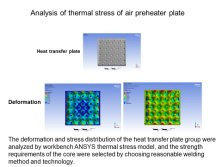 Analysis of thermal stress of air preheater plate