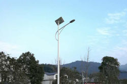 30W Semi-separated solar street light installed in Africa