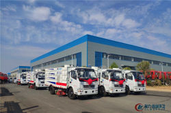 9 units of CLW-WEIYU Brand Road Sweeper trucks are ready for delivery