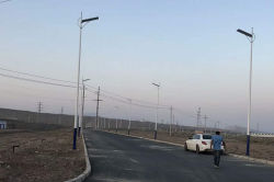60W integrated solar street light installed in Philippines
