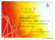 Honor Certificate by 2008 Beijing Paralympic Games