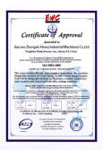 Zhongxin Heavy Industry CE Certificate of Approcal