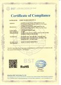 RoHs certificate for LED lamp