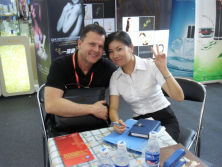 our sales manager Together with USA customer