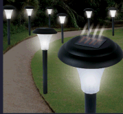 Bright Solar Accent Lights Cordless by Pure Garden