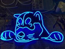 Ultra-thin LED Neon Flex Light | Doggie Neon Sign | Tokyo, Japan