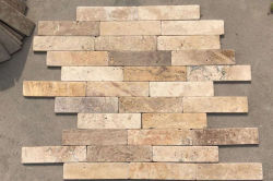 Tumbled travertine tile